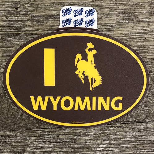 Blue 84 Wyoming Decal