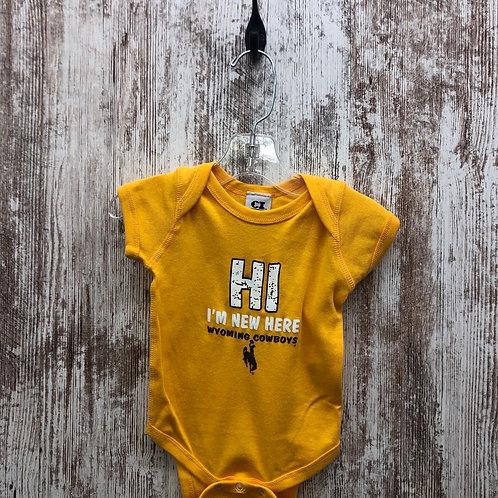 New Here Infant Onesie