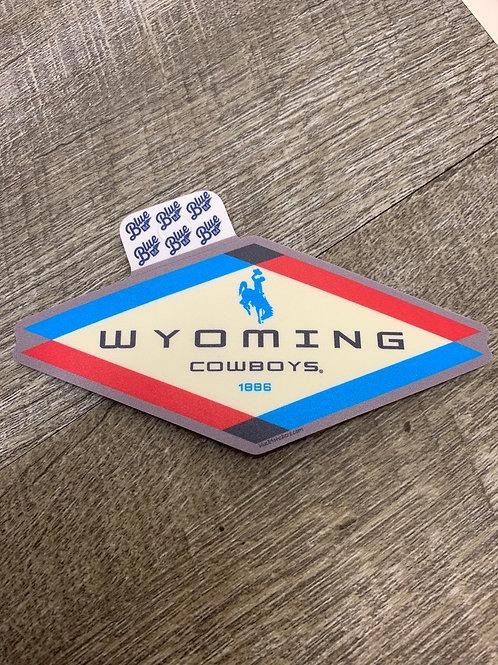 Wyoming Cowboys Diamond Decal