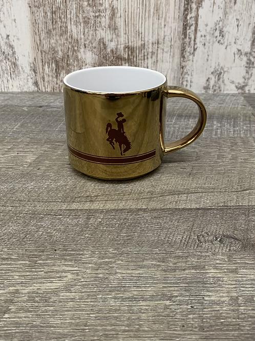 Gold Mug With Bucking Horse
