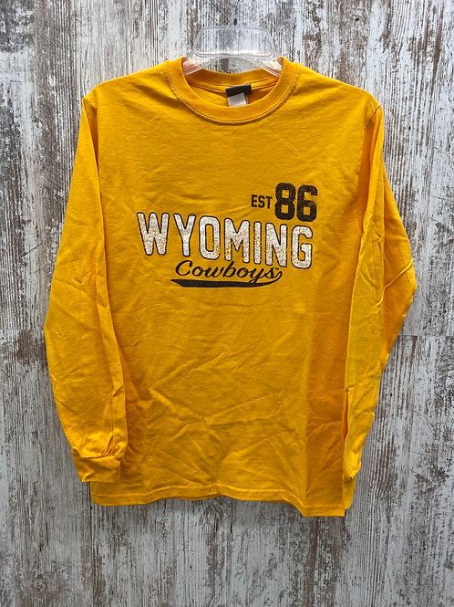 Wyoming Gold long sleeve tee