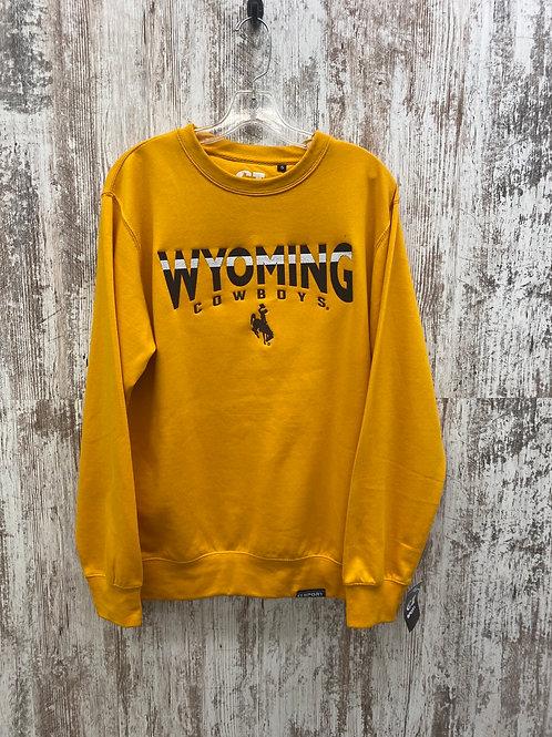 Wyo Cowboys Gold Crewneck