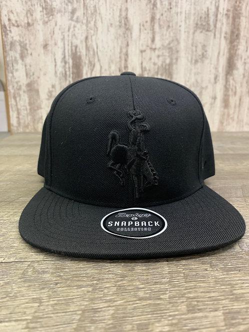 Black Snapback cap with bucking horse