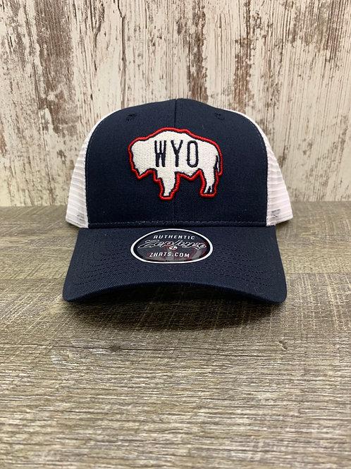 Wyoming Cap with Buffalo