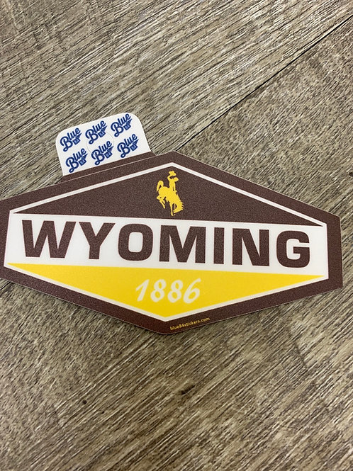 Diamond Wyoming Decal
