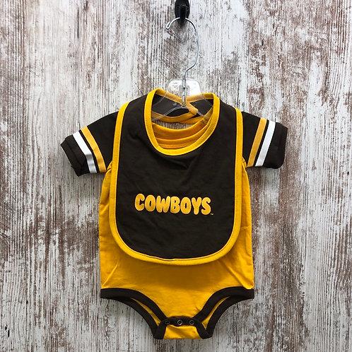 Colosseum Cowboys Infant Onesie With Bib