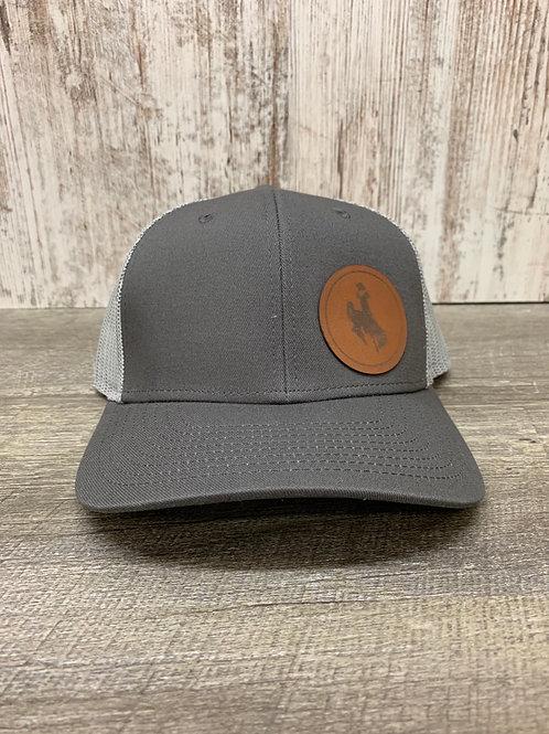 Grey cap with Bucking Horse