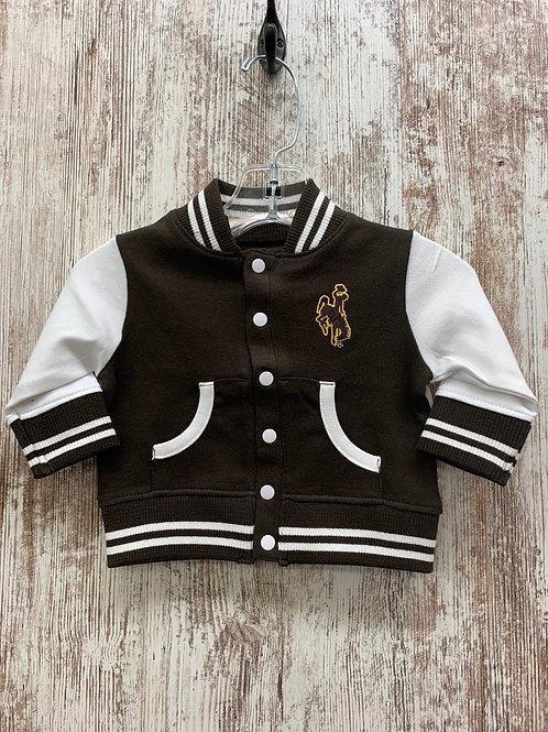 Kids Wyoming Lettermans Jacket
