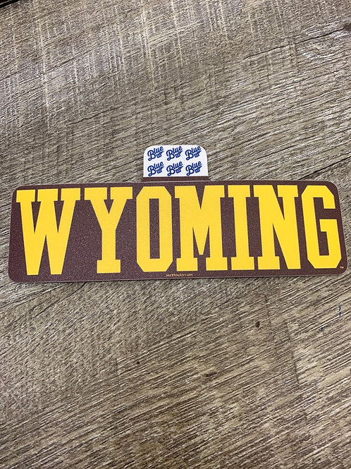 Brown and Gold Wyoming Decal