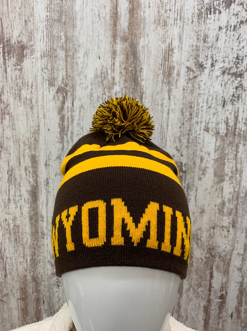 Brown and Gold Stocking Cap