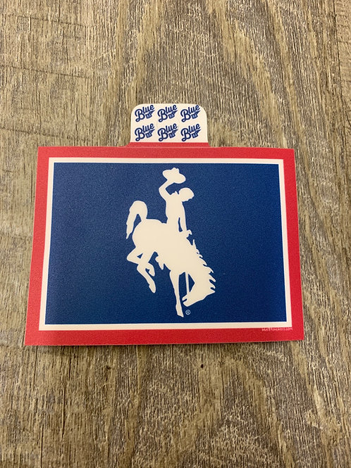 Red White and Blue Bucking Horse