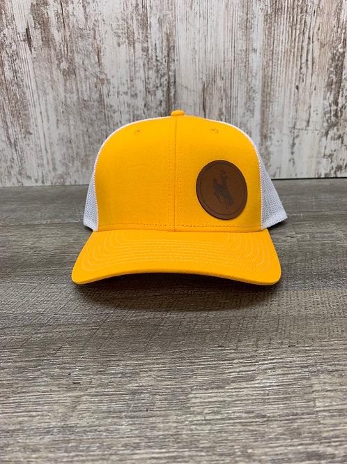 Yellow cap with Bucking horse
