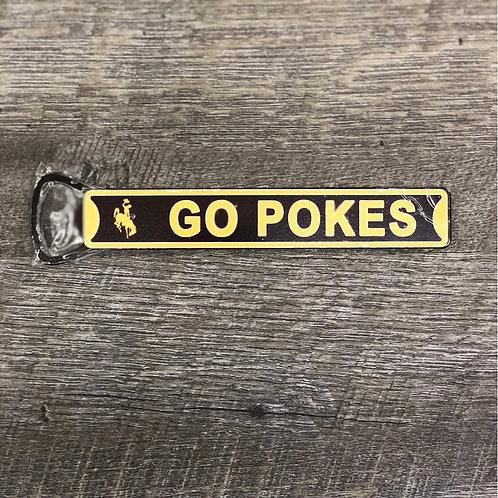 Go Pokes Magnetic Bottle Opener