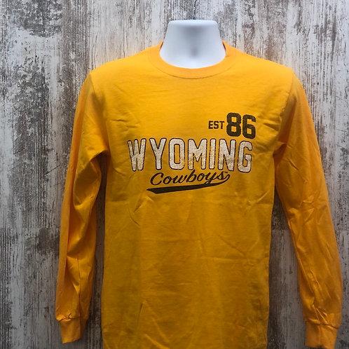 MV Sport Men's Wyoming Cowboys Long Sleeve Tee