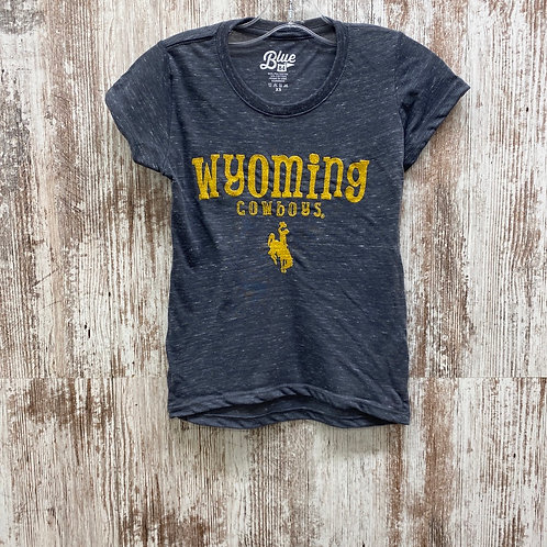 Blue 84 Youth Wyoming Cowboys Tee Shirt