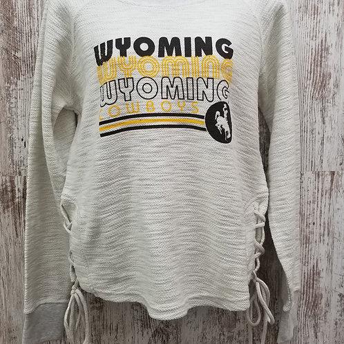 MV SPORT Women's Wyoming Cowboys Long Sleeve Tee
