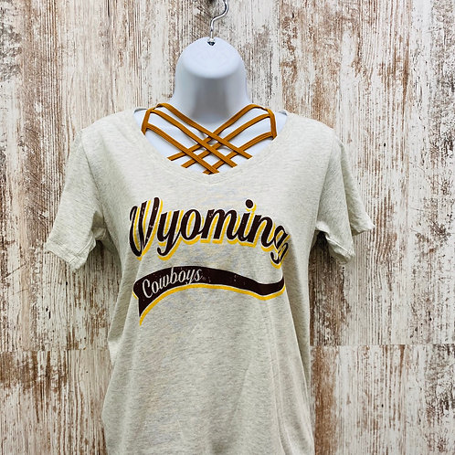 Blue 84 Women's Wyoming Cowboys V-neck Tee
