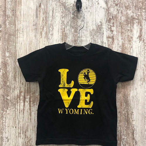 MV Sports Toddler Wyoming Love Tee Shirts