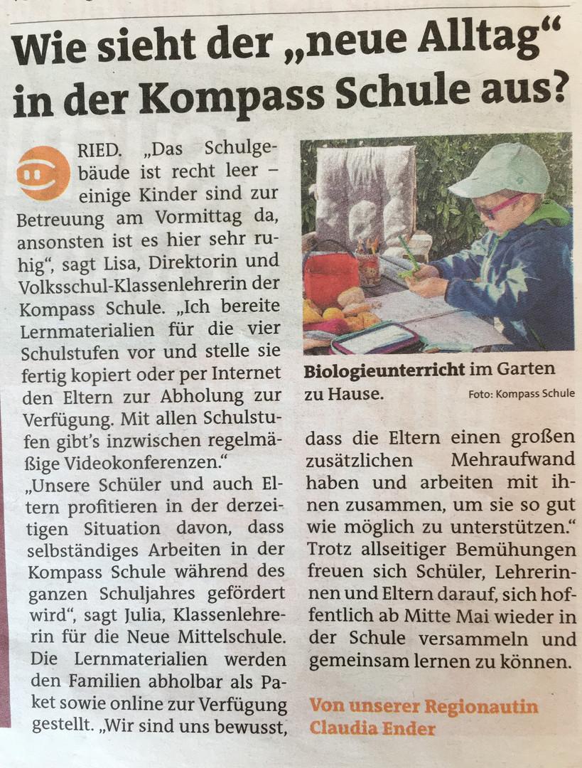 """Der """"neue Alltag"""" in der Kompass Schule"""