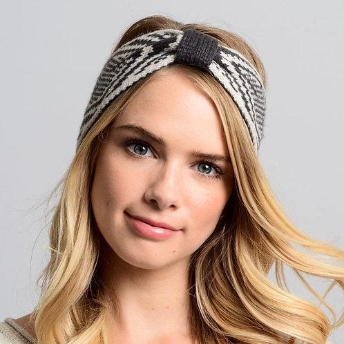 50 % OFF -Fair Isle Bow Headband Color Gray