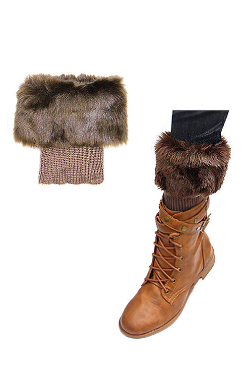 50% OFF - Leg Warmer Short Boot & Boot Shoe Accessory Brown