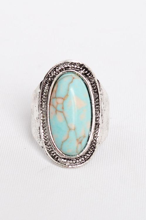Vintage Style Turquoise Stone Adjustable Fashion Ring