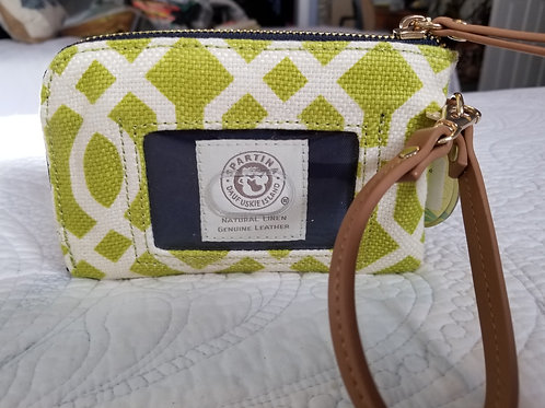 SOLD OUT! ❤ Spartina Linen Leather ID Purse