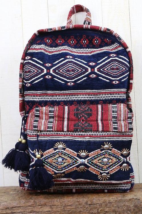 25% OFF - Velveteen, Ornate Backpack All Over Embroidered Velveteen