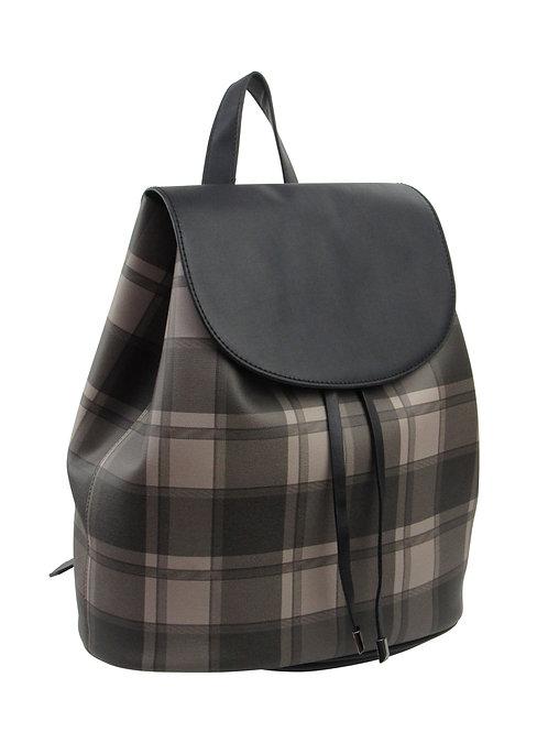 25% OFF -Plaid Drawstring Backpack Khaki Color