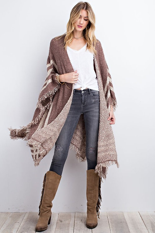 50% OFF - Light Weight, Poncho Knit Cardigan Super Soft and Truly O