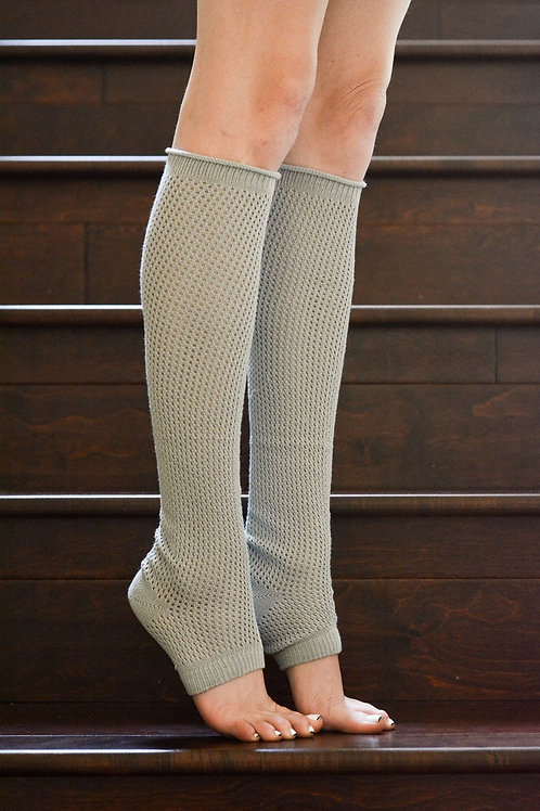 50% OFF -Dancer Textured Legwarmers Gray Color One Size