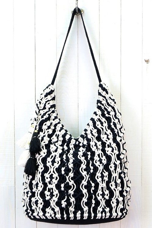 SOLD OUT!❤ Large All Over Macrame Large Hobo Bag w/Tassel