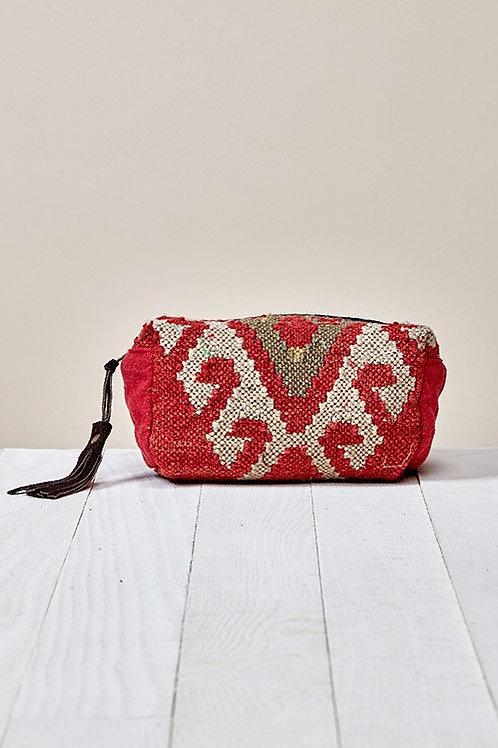 SOLD!❤ 25% OFF - Aztec Inspired Original Makeup Bag Red Natural Color