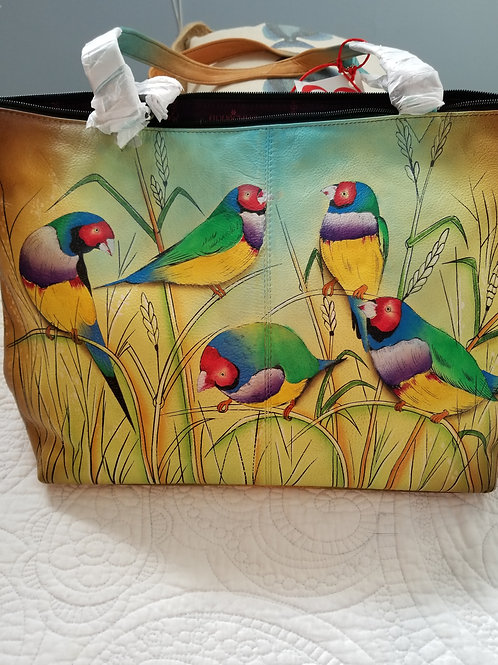 SOLD OUT! ❤ Anusckla Hand Painted Bird Design Tote