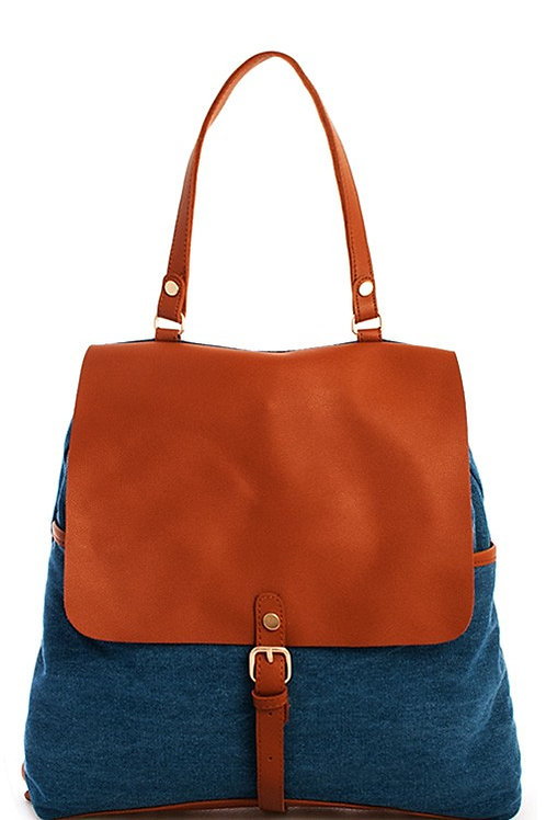 25% OFF - Trendy Washing Denim Chic Backpack Faux Leather