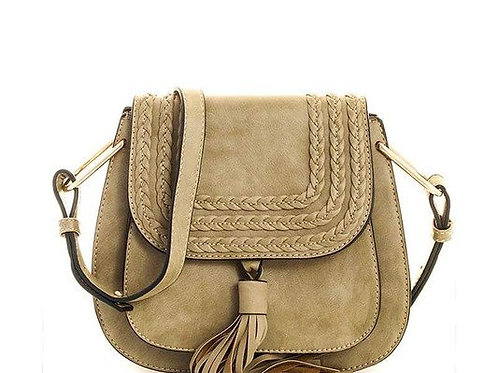 25% OFF - Adjustable Long Strap Bag Smooth Texture PU Leather Olive Color