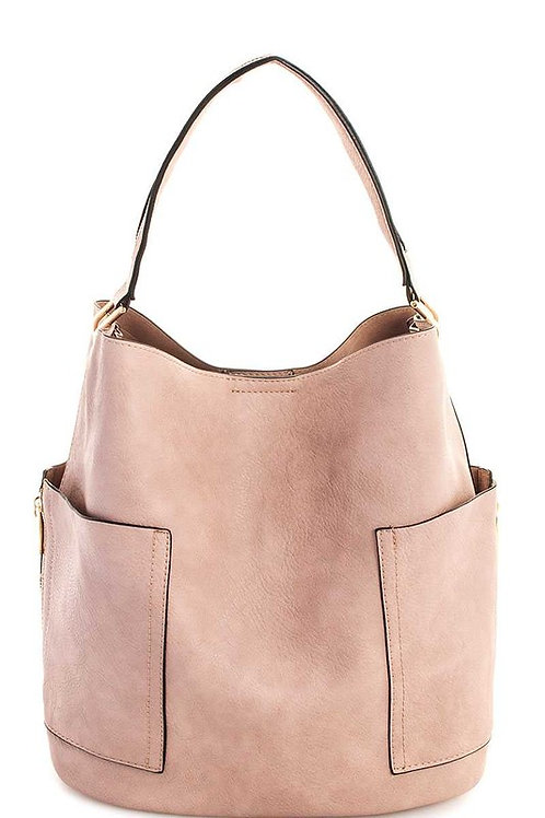 * SOLD OUT*  Detachable & Adjustable Long Strap Bag Soft Lining Color Stone