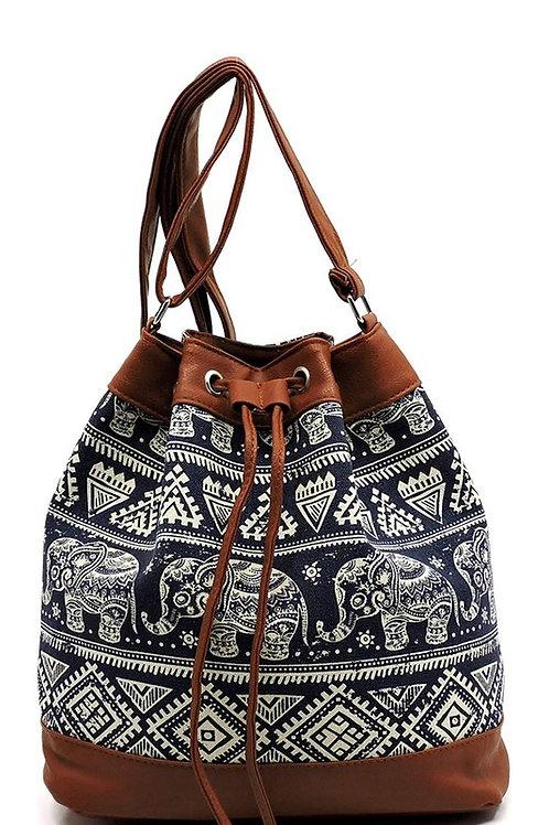25% OFF - Aztec Printed Canvas Shoulder Bag Printed Bag