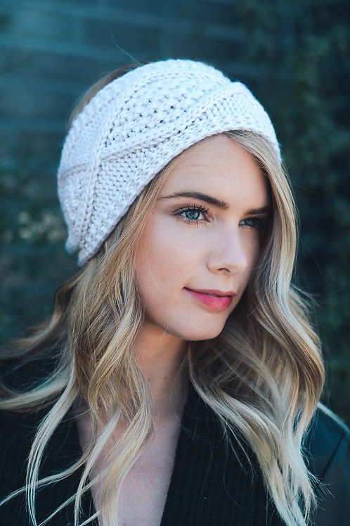 50% OFF -Diamond Stitch Ivory Headband Ivory Color