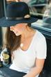 Vintage Brooch on Fedora Hat