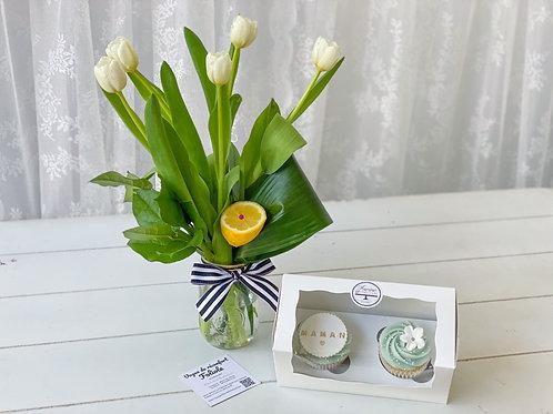 LE PARFAIT DUO (Fleurs et Cupcakes)