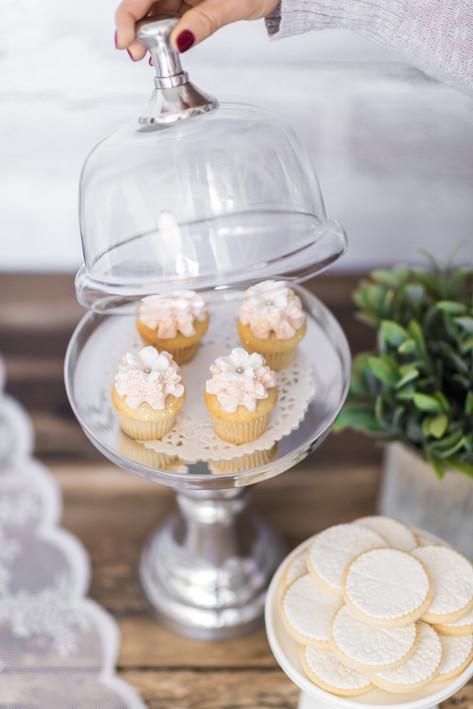 Mini cupcakes et biscuits