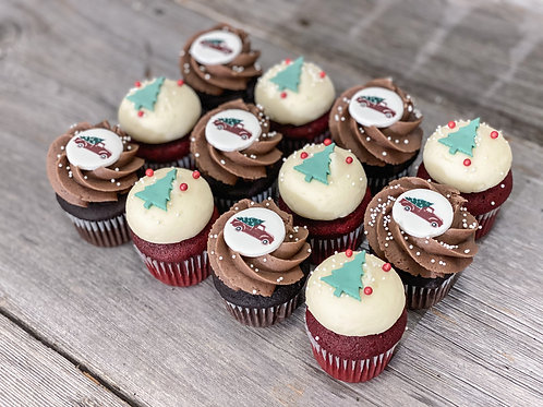 NOËL TRADITIONNEL: Minis cupcakes