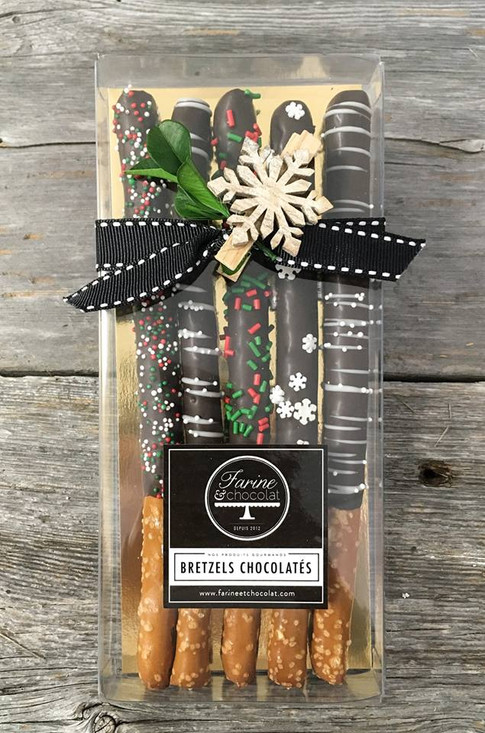 Bretzels au chocolat