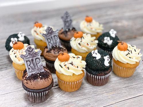 BOITE 12 minis cupcakes HALLOWEEN