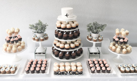 Table sucrée cupcakes