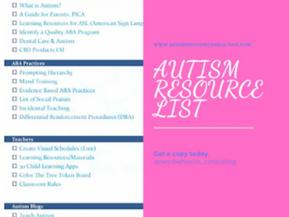 Autism Resource List