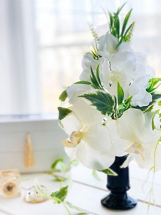 仏花 アーティフィシャルフラワー 白+グリーン