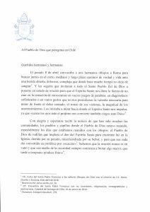 Compartimos con nuestra Comunidad Educativa la carta de SS Papa Francisco al Pueblo de Chile.