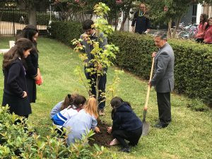Plantando árboles y con mucha alegría celebramos la resurrección de Jesús